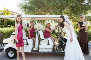 girls golf cart