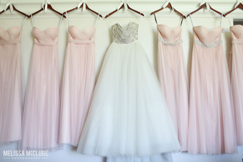 Blush wedding at La Costa Resort. Photo by Melissa McClure Photography