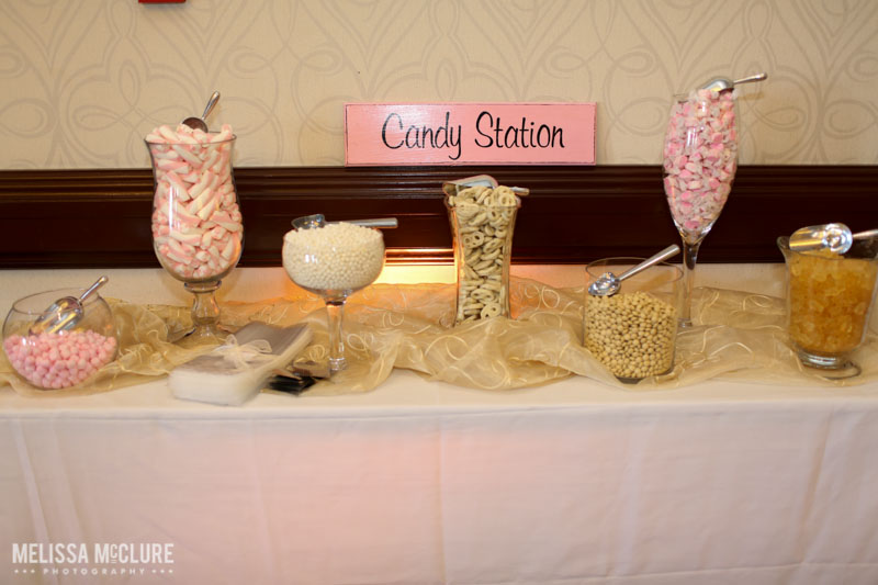 Blush and pink candy bar