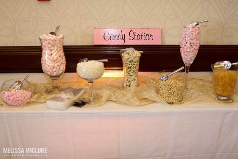 Blush and pink candy bar