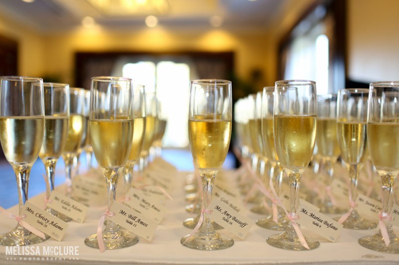 Champagne Place Cards. Photo by Melissa McClure Photography
