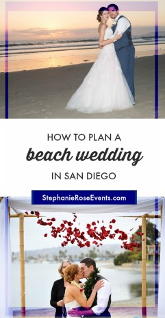 how to plan a San Diego beach wedding